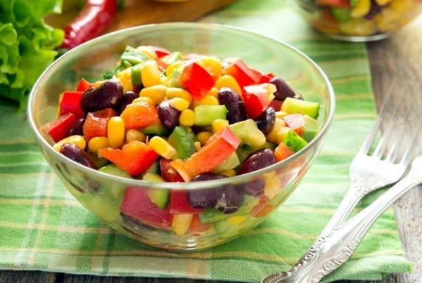 Салат из овощного микса