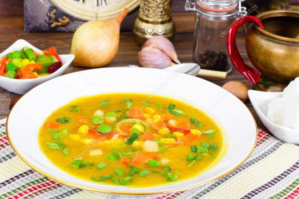 Суп с мексиканским овощным миксом
